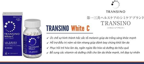 Tại sao Viên uống transino white c clear có tác dụng tốt.