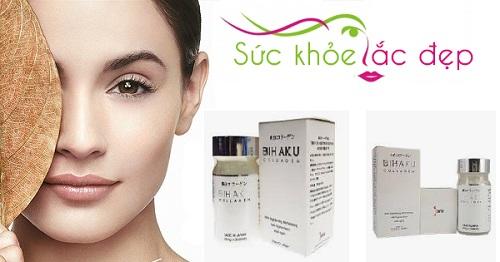 Công dụng làm trắng da của Bihaku Collagen
