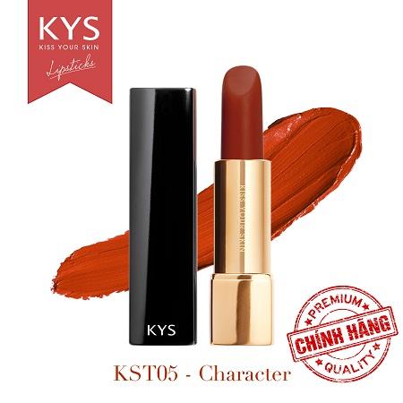 Son lỳ siêu mịn môi KYS Chocolate Honey cam cháy chất mịn bám màu lâu trôi