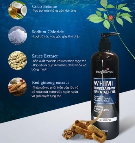dầu gội xả whimi được bào chế từ những thành phần thảo dược tự nhiên