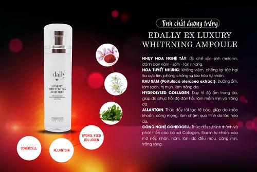 Edally Luxury Whitening Ampoule được bào chế từ thành phần tự nhiên