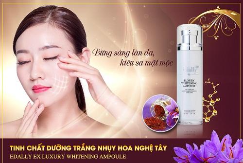 Edally Luxury Whitening Ampoule được chứng nhận phù hợp với làn da nhạy cảm