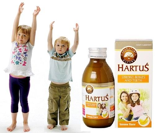 Hartus 150ml có tác dụng giúp chắc khỏe xương.