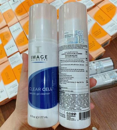 image clear cell salicylic gel cleanser làm sạch sâu không gây khô ráp bong tróc
