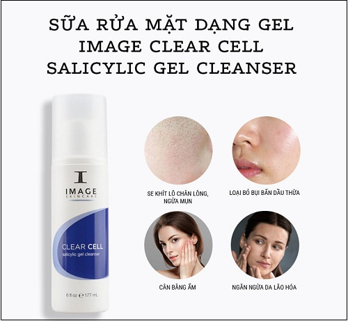 một số tác dụng của image clear cell salicylic gel cleanser