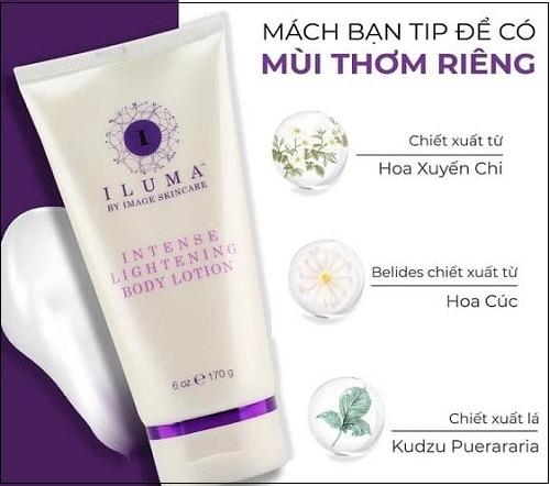 thành phân của  iluma intense lightening body lotion