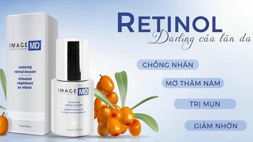 một số công dụng của tinh chất image md restoring retinol booster