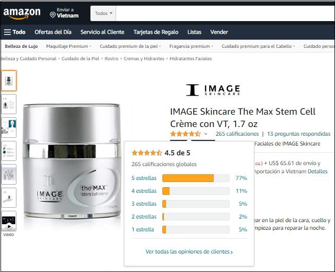 image skincare the max stem cell creme được đánh giá 5 sao trên amazon