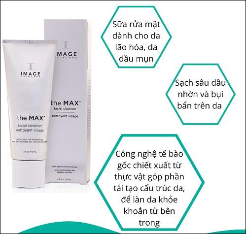 the max stem cell facial cleanser giúp làm sạch sâu cho làn da tươi trẻ