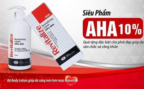 lotion revitalize thích hợp với người có làn da khô sần sùi