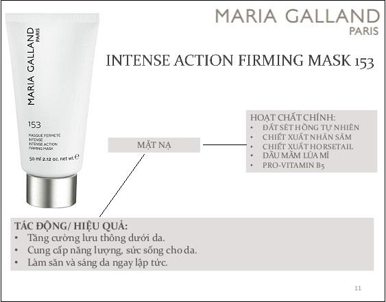 thành phần và công dụng của maria galland 153 intense action firming mask