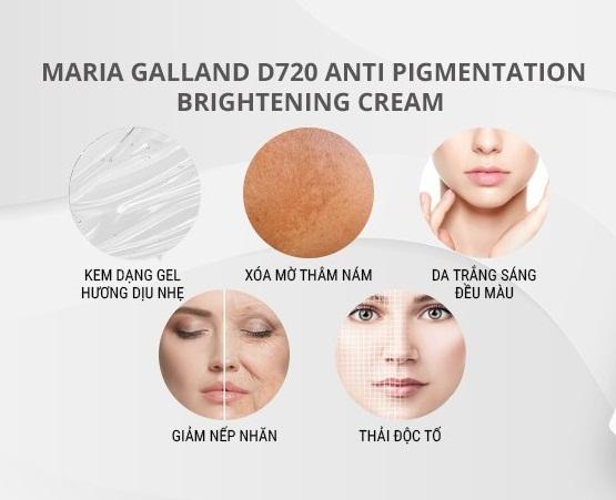 công dụng của maria galland d-720 anti-pigmentation brightening cream