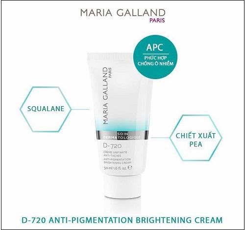 thành phần của maria galland d-720 anti-pigmentation brightening cream