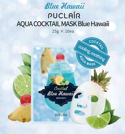 Puclair Aqua Cocktail Mask Blue Hawaii