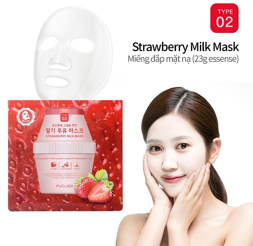 Puclair Strawberry Milk Mask