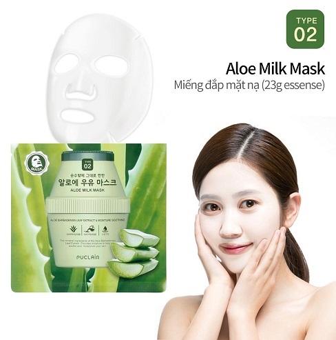 Puclair Aloe Milk Mask Hàn Quốc