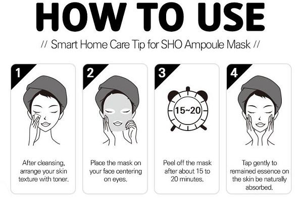 mặt nạ Sho Hyaluronic Aqua Hyaluronic Ampoule Mask