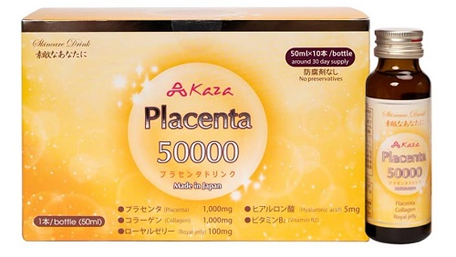 Nước uống đẹp da chống lão hóa Kaza Placenta 50000mg Nhật Bản