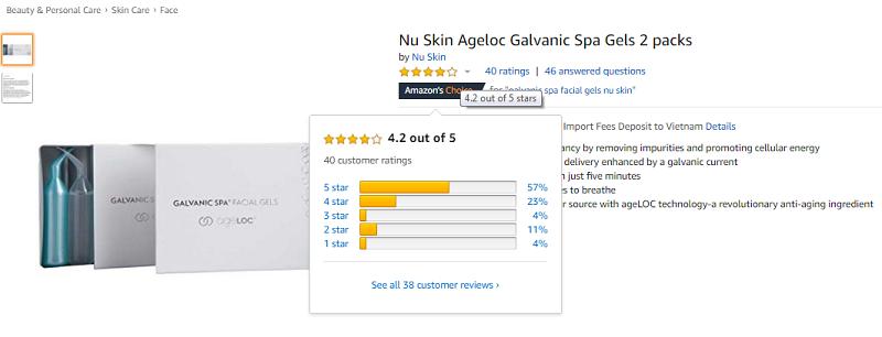 Gel mát xa mặt ageLOC Galvanic Spa Facial Gels