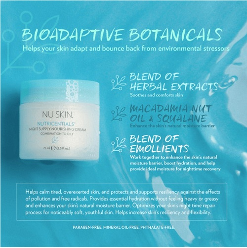 Nu Skin Nutricentials® Night Supply Nourishing Cream Combination to Oily