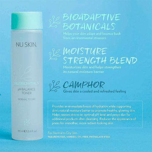 Nuskin Nutricentials pH Balance Toner Normal to Dry