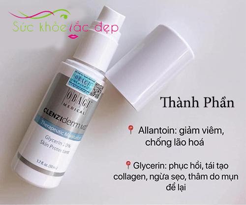 obagi clenziderm m.d therapeutic moisturizer chứa thành phần lành tính an toàn cho da