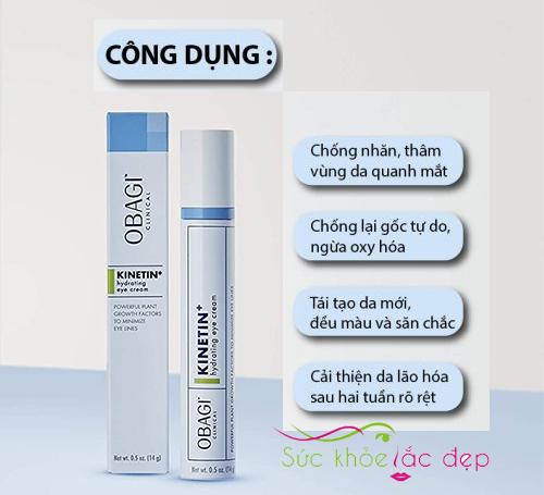 những tác dụng của obagi clinical kinetin+ hydrating eye cream