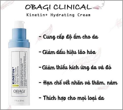 những công dụng của obagi clinical kinetin+ hydrating cream