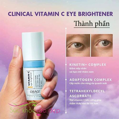 thành phần của obagi clinical vitamin c eye brightener