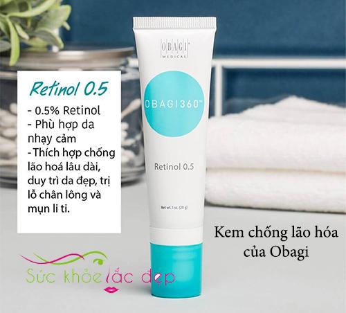 kem chống lão hóa obagi360 retinol 0.5