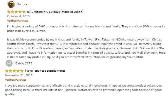 Review viên uống dhc vitamin c 60 viên của Nhật Bản tại amazon