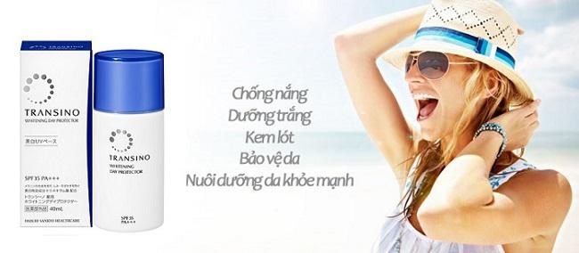 Transino whitening Day Protector nuôi dưỡng làn da khỏe mạnh