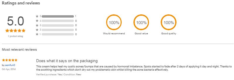 Review rohto acnes 25 của khách hàng tại ebay.com