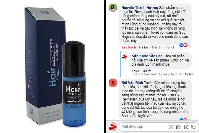 review serum mọc tóc của mỹ