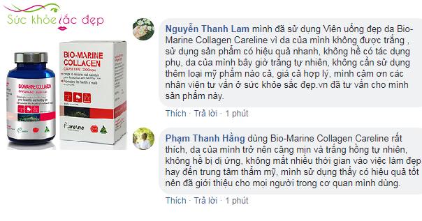 Review bio-marine collagen careline  của khách hàng tại Việt nam.