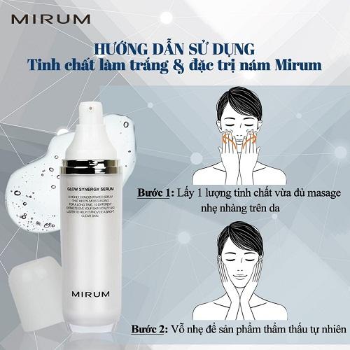 cách dùng mirum glow synergy serum