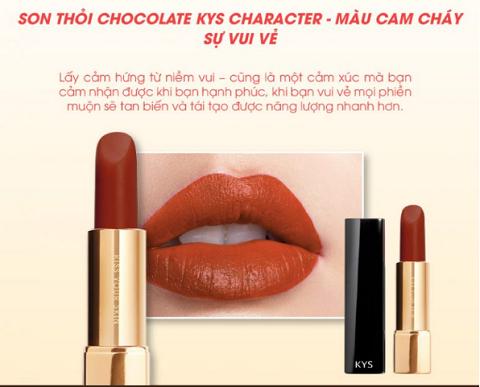 Son lỳ siêu mịn môi KYS Chocolate Honey cam cháy –  Sắc son của sự vui vẻ