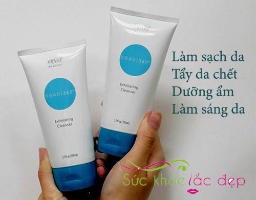 obagi 360 exfoliating cleanser đem lại đa tác dụng trong việc chăm sóc da
