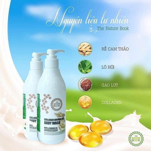 sữa tắm the nature book được bào chế từ thành phần tự nhiên
