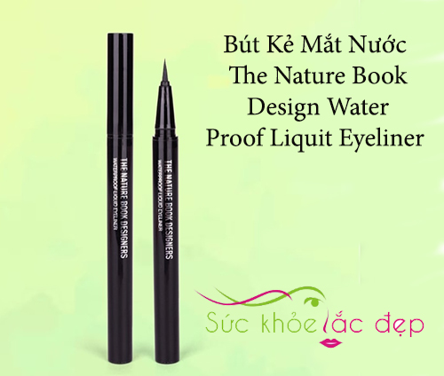 the nature book design water proof liquid eyeliner