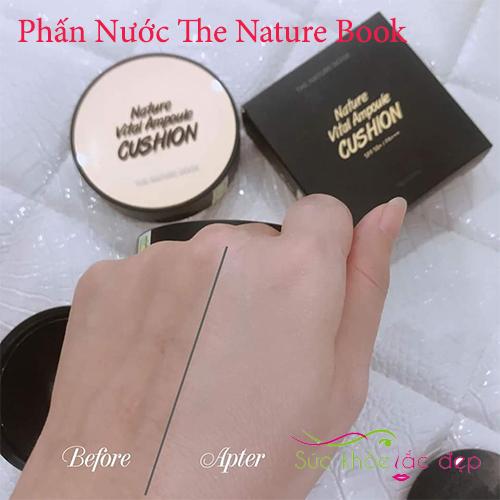 phấn nước  nature vital ampoule cushion tạo lớp nền mỏng nhẹ tự nhiên