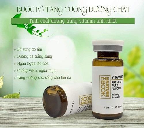 công dụng của tinh chất dưỡng trắng và tái tạo da vitamin white