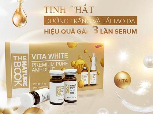 tinh chất dưỡng trắng và tái tạo da vitamin white
