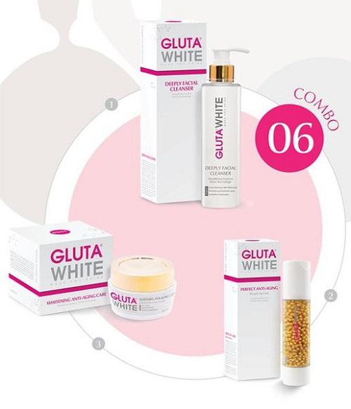 Bộ combo của hãng mỹ phẩm Gluta white