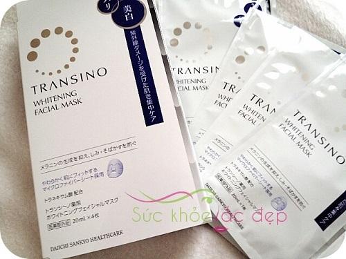 mặt nạ dưỡng da Nhật Bản Transino Whitening Facial Mask