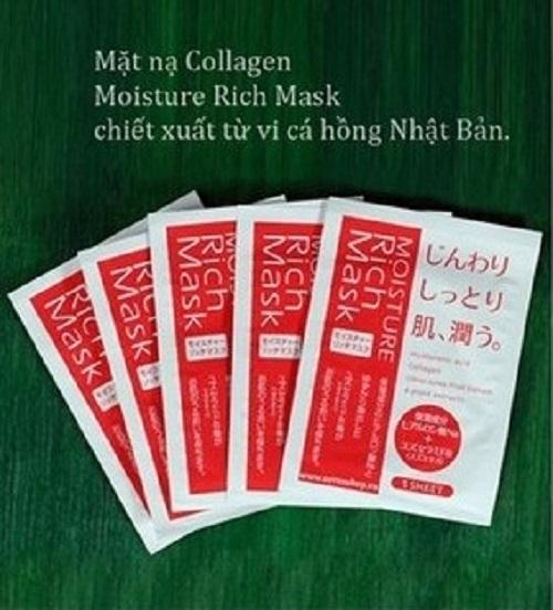 Mặt nạ dưỡng da của Nhật Bản Collagen Moisture Rich Mask