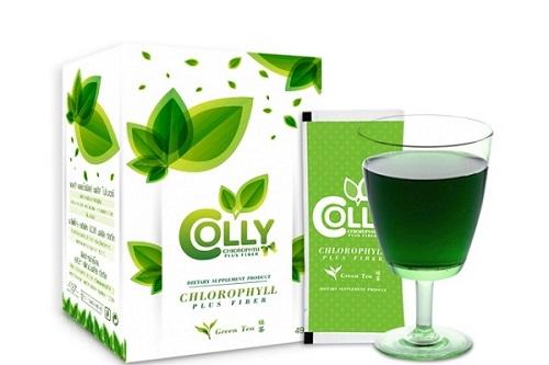 trà giảm cân Colly Green Tea Chlorophyll Plus Fiber Thái Lan
