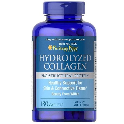 Hydrolyzed Collagen 1000mg Puritan's Pride Lọ 180 Viên Trẻ Hóa Làn Da