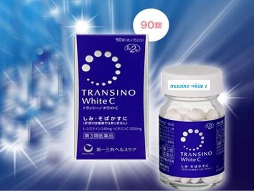 Viên Uống trị nám tàn nhang Transino White C Nhật Bản Hộp 90 Viên cao cấp