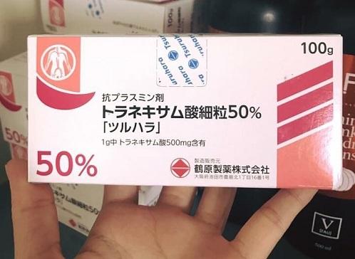 Bột uống Transamin 50% 100gr trắng da ngừa nám của Nhật